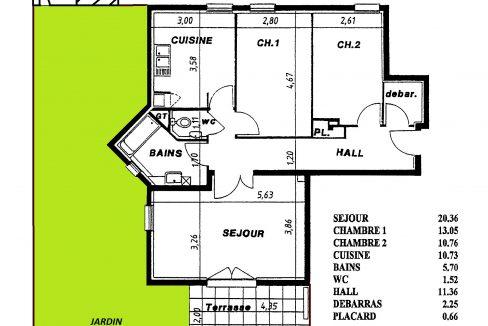 Plan appartement 16 rue des Jardins Colmar (1)