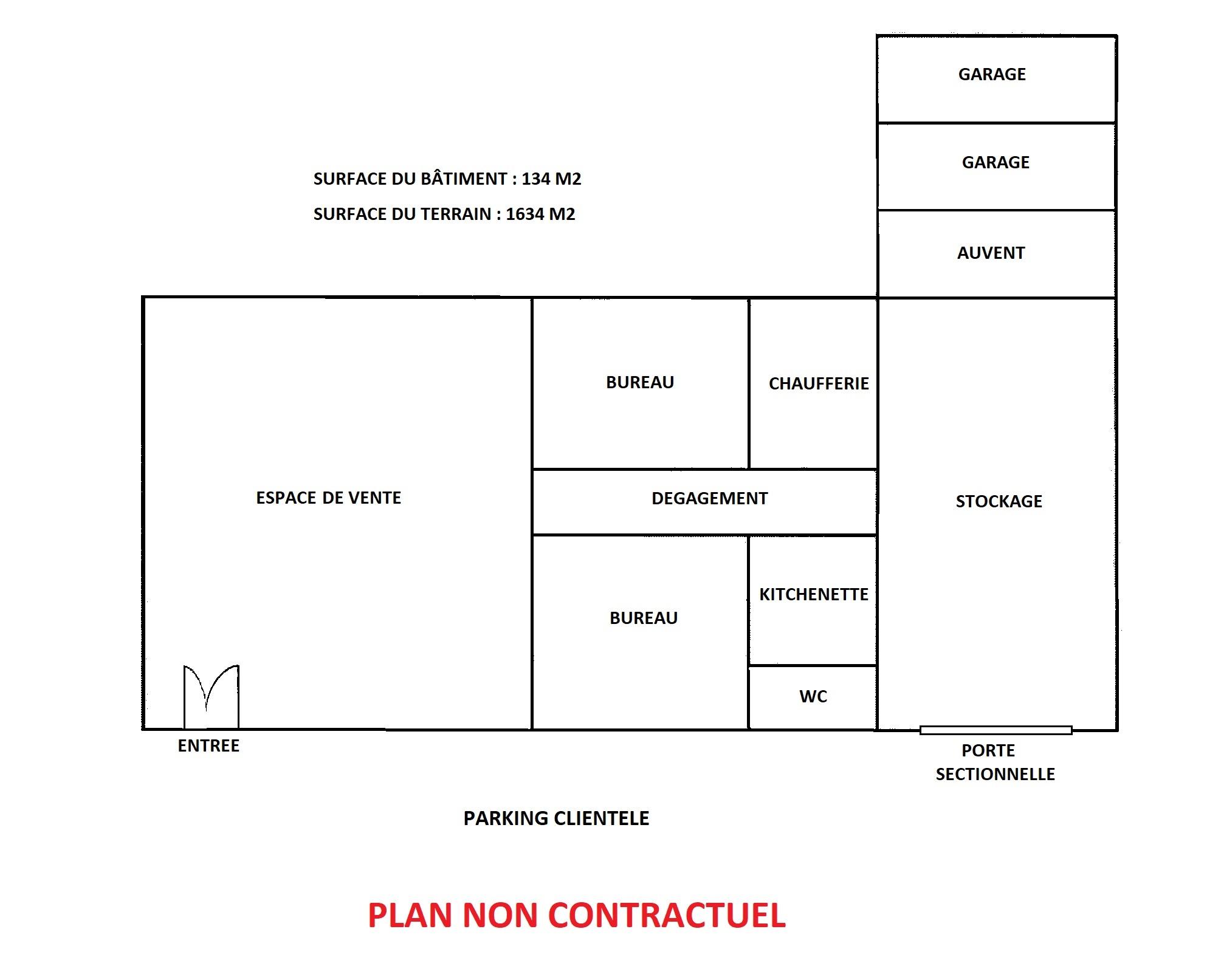 LOCAL D'ACTIVITE – 134 M2 SUR 16 ARES DE TERRAIN – COLMAR